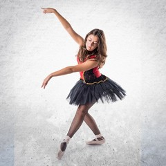 Young ballet dancer with tutu