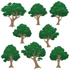 rendered vector isolated trees