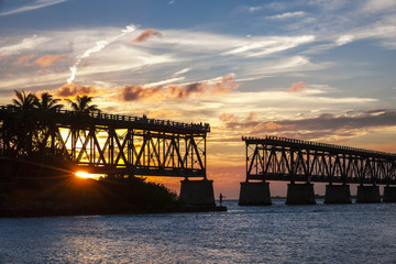 Rail bridge at Florida Keys