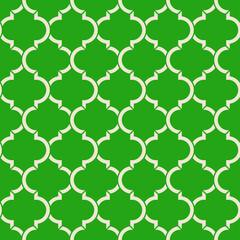 light green quatrefoil pattern