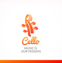 Logo with Peg head of Cello