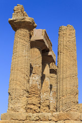 Greek Temple of Juno in Agrigento - Sicily, Italy