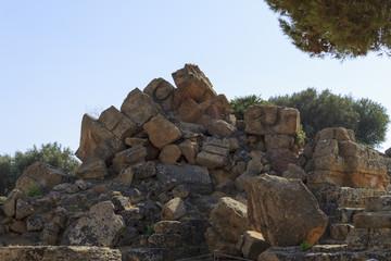 Ruin of Greek Temple Columns - Sicily, Italy