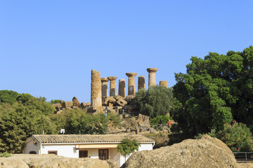 Temple of Heracles in Agrigento - Sicily, Italy