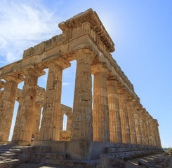 Greek Temple E at Selinus in Selinunte - Sicily, Italy