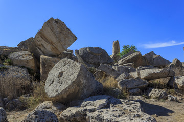 Ruin of Greek Temple Column - Sicily, Italy