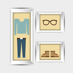 clothes and frame design