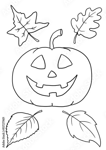 Halloween Malvorlage Kürbis Stock Photo And Royalty Free Images On
