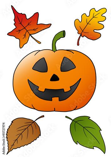 Halloween Malvorlage Kürbis Stockfotos Und Lizenzfreie Bilder Auf