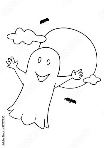 Halloween Malvorlage Geist\