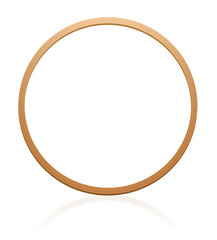 Gymnastic hoop with wood texture. Illustration over white background.