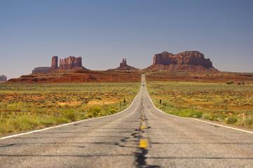 scenic Highway 163 through Monument Valley, Arizona, Utah, Navajo Nation, USA