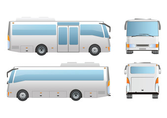 Bus Mockup six wheel