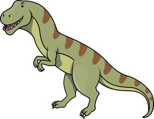 Dinosaur funny cartoon illustration