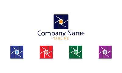 Photography Logo Vector - Block Shutter design