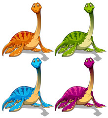 Dinosaurs with long neck