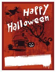 happy halloween stencil poster