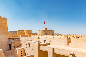 Foto auf Leinwand Befestigung Rustaq Fort in the Al Batinah Region of Oman. It is located about 175 km to the southwest of Muscat, the capital of Oman.