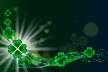 St patricks day vector card background vector