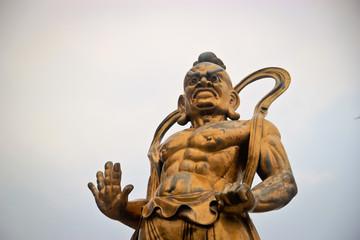 Bronze statue of a Chinese warrior deity