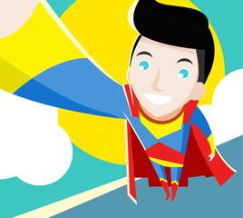 superheroe volando
