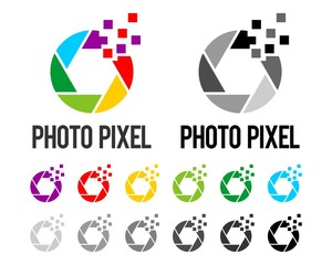 Photo Pixel Logo Template