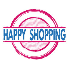 Happy shopping stamp