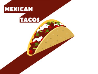 flat design of mexican tacos