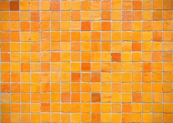 orange mosaic tiles