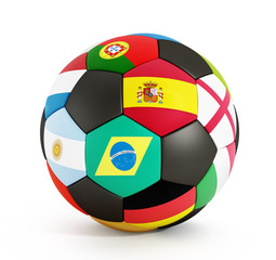 Soccer ball with country flags
