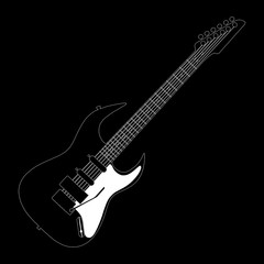 electric guitar contour on black