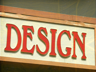 aged and worn vintage design sign