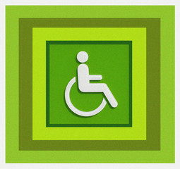green handicap sign design