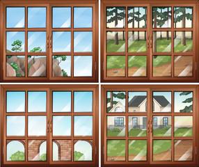 Four scene from windows