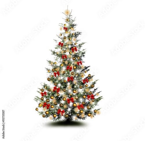 bunt geschm ckter weihnachtsbaum stockfotos und lizenzfreie bilder auf bild 93751587. Black Bedroom Furniture Sets. Home Design Ideas