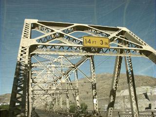 aged and worn vintage photo of old bridge