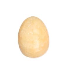 Onyx stone egg isolated on white background