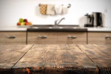 kitchen background and table