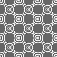 Simple seamless gray and white geometric pattern of rhombuses.