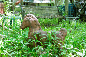 Old Toy Horse in Woods