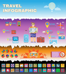 Colorful Travel infographic Planner.