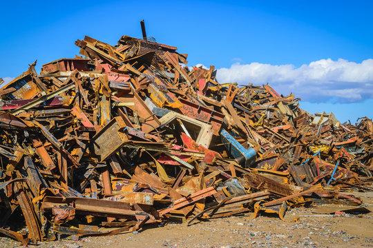 Scrap Steel recycling prepared for smelting in steel industry
