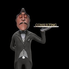 First Class Consulting Illustration