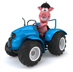 Poster Ranch Fun pig