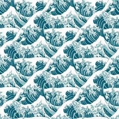 """Hintergrundmuster / Seamless Pattern """"Die große Welle vor Kanagawa"""""""