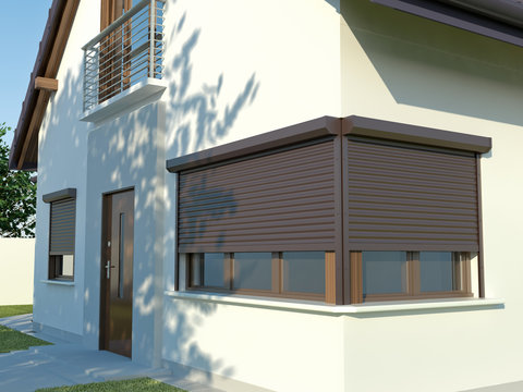 Window roller illustration