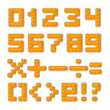 Set segni e numeri mattoncini