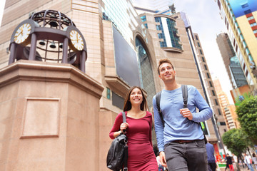 Aufkleber - Hong Kong Times Square Causeway Bay people walking