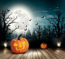 Halloween spooky background. Vector
