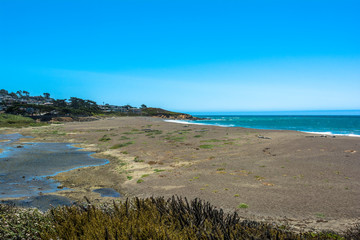The beach of Cambria, California